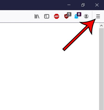 откройте меню Firefox