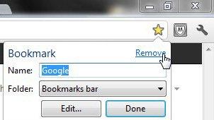 узнайте, как делать закладки в Google Chrome, удаляя закладки