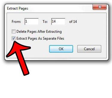 извлекать страницы в отдельные файлы