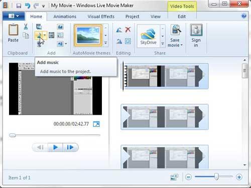 добавьте свой звуковой файл в ваше видео