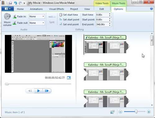 как добавить музыку или аудио в Windows Live Movie Maker