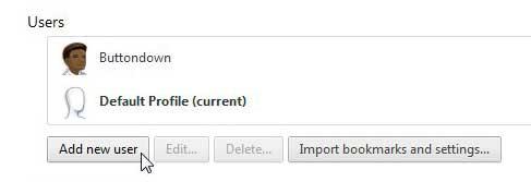 как добавить нового пользователя в Google Chrome