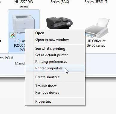 Как настроить диспетчер очереди печати на HP Laserjet P2055dn