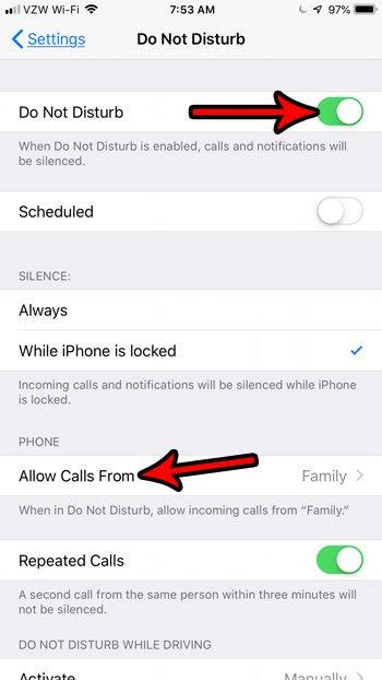 блокировать спам звонки с не беспокоить на iphone