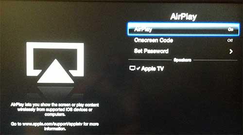 Включить или отключить параметр AirPlay