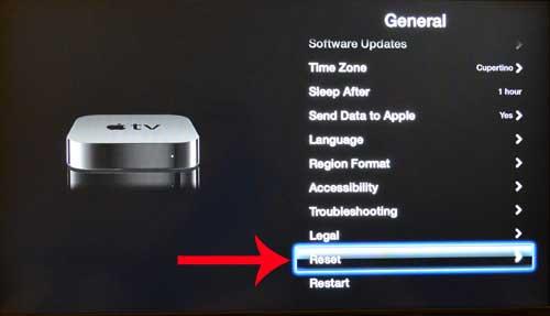 Как восстановить Apple TV на заводские настройки