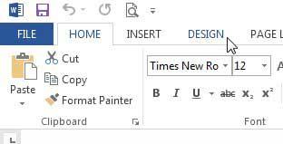 Перейдите на вкладку «Дизайн»