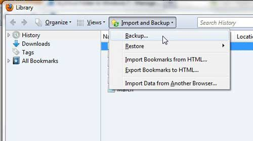 как сделать резервную копию ваших закладок в Firefox