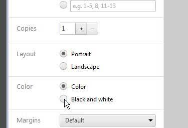 как печатать черным по белому из гугл хрома