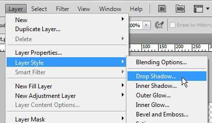 как добавить тень в фотошопе cs5