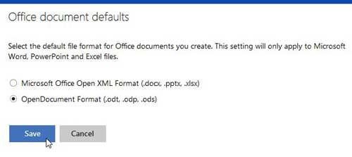 изменить тип документа по умолчанию