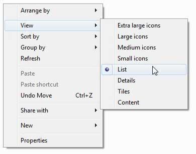как изменить вид папки в windows 7