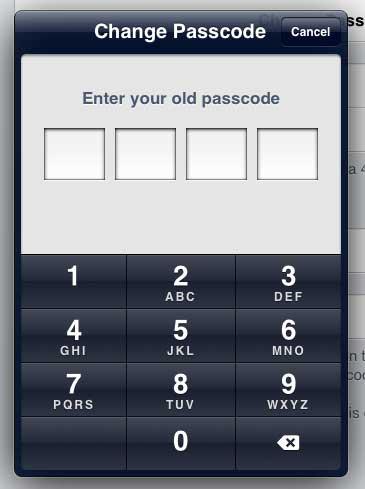 Введите старый пароль еще раз