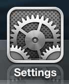 Значок настроек iPhone 5