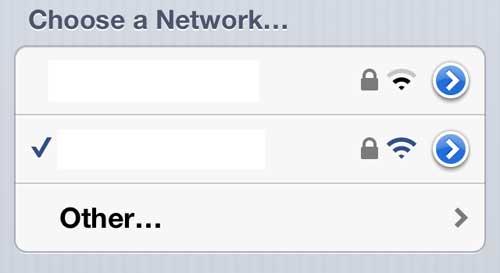 Выберите сеть, для которой вам нужно сменить пароль