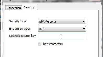 как изменить ключ безопасности беспроводной сети в Windows 7