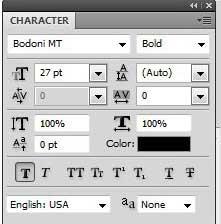 как изменить шрифт текста в фотошопе cs5