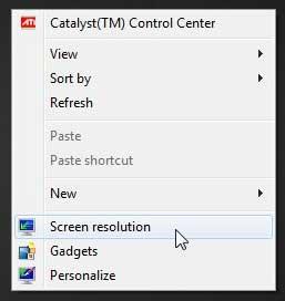 как изменить разрешение экрана в windows 7