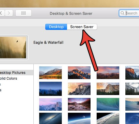 установить количество времени до заставки на Mac