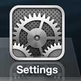 открыть меню настроек iphone