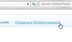 измени свой пароль windows