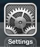 Откройте меню настроек iPhone 5