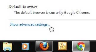 расширенные настройки Chrome