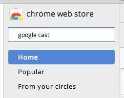поиск расширения Google Cast