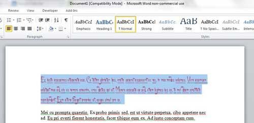 как очистить все форматирование текста в Word 2010
