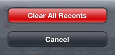 как убрать последние звонки с iphone 5