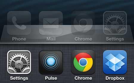 просматривать недавно открытые приложения на iphone 5