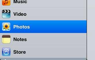 открыть видео меню на ipad 2