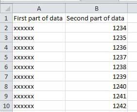 определить столбцы Excel для объединения