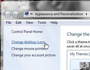 Windows 7 изменить значки на рабочем столе