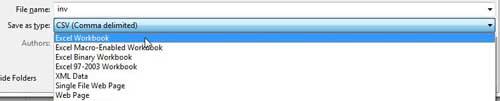 как конвертировать CSV в Excel 2010