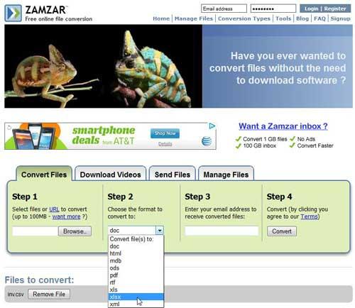 используйте Zamzar для конвертации вашего CSV-файла в Excel