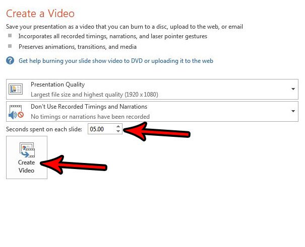 Как конвертировать PowerPoint в MP4 PowerPoint 2013