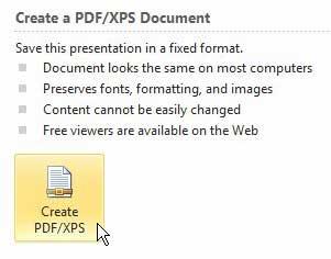 как превратить презентацию PowerPoint в PDF