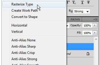 Как преобразовать текстовый слой в изображение в Photoshop CS5