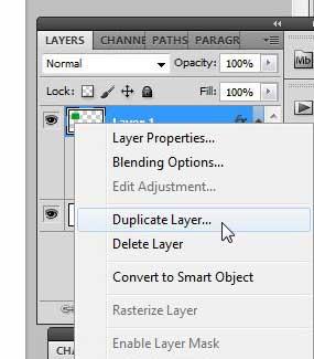 Как скопировать слой между изображениями в Photoshop CS5