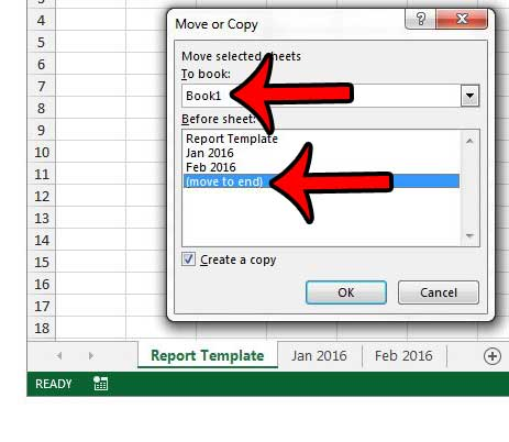 Как скопировать лист в Excel 2013