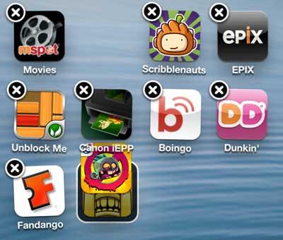 перетащите нужное приложение поверх другого приложения для папки iphone 5