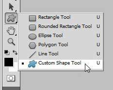 инструмент для создания пользовательских форм в Photoshop