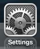Откройте меню настроек iPhone
