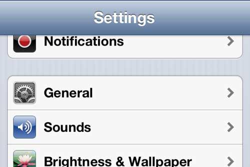 Откройте главное меню iPhone
