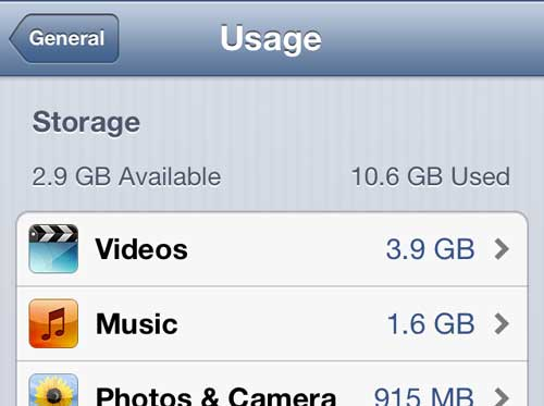 Откройте меню iPhone видео