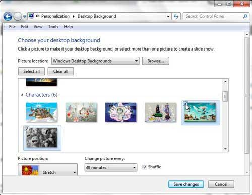 выберите изображения для включения в слайд-шоу