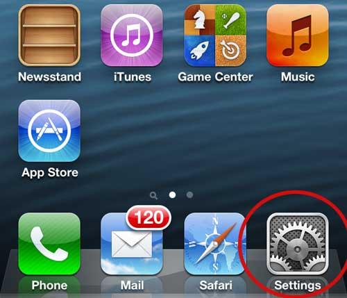 меню настроек iphone 5