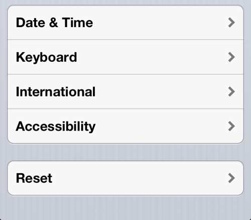 Откройте меню специальных возможностей iPhone 5