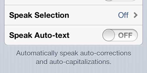 Отключить опцию Speak Auto-text